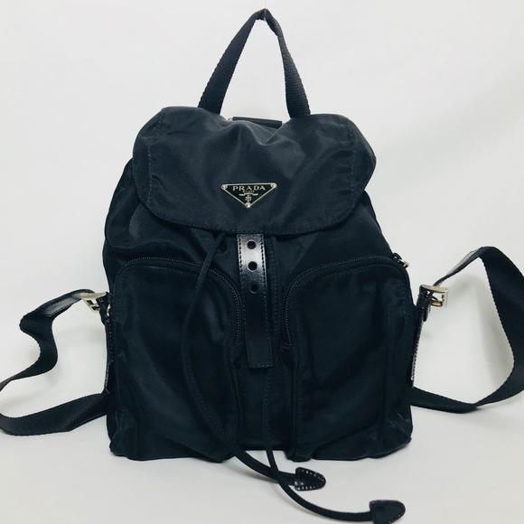 Prada Bags   Black Tessuto Mini Backpack   Poshmark 8f876e8087